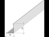 Пристенный кант к подвесному потолку 19х24х3000 мм белый, Люмсвет