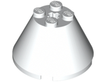 Cone 4 x 4 x 2 with Axle Hole, White (3943b / 4204617 / 4288051 / 6108662)
