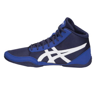 борцовки Asics Matflex 5GS Детские Indigo Blue/White C545N-400 wretsling shoes фото слева