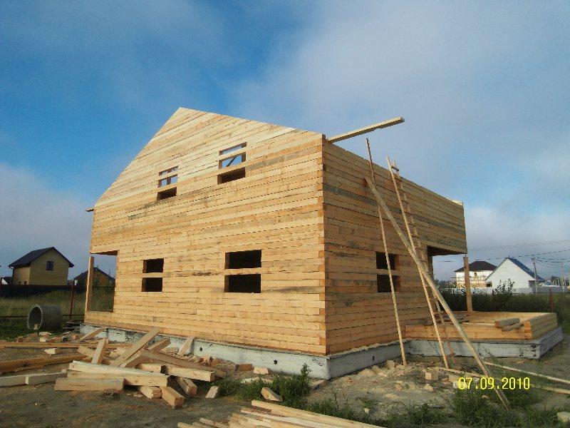 Строительство дома из бревна своими руками фотоотчет