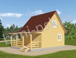 Проекты дачных домов из бруса 6*8 - Д9