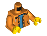 Torso Jacket with Hood over Light Blue Sweater Pattern / Orange Arms / Yellow Hands, Orange (973pb0906c01 / 4629972)