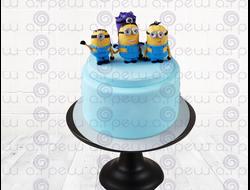 """Торт № 20 """"С миньонами 2"""" (Детские торты)"""