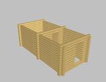 Сруб бани 6х3 (5-стен) из ОЦБ 20см