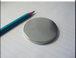 Неодимовый магнит дискоoбразный D50x5