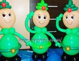 солдатики из воздушных шаров на подарок мужчине к 23 февраля