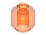Minifigure, Head  Plain  - Hollow Stud, Trans-Neon Orange (3626c / 6039180)