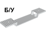 ! Б/У - Train Base 6 x 34 Split-Level without Bottom Tubes, White (87058 / 4561505) - Б/У