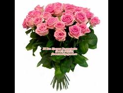 27 в букете роз розовых