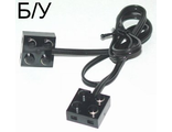 ! Б/У - Electric, Wire with Brick 2 x 2 x 2/3 Pair,  15 Studs Long, Black (5306bc015 / 75565) - Б/У