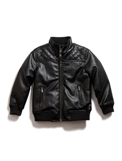 Куртка деская Guess Kids Boys Pleather Jacket Размер 5-6