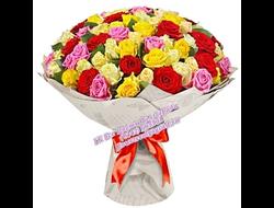 101 красная-101 розовая-101 желтая роза