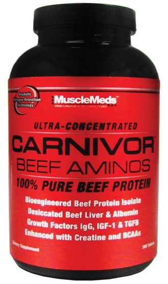 MuscleMeds Carnivor Beef Aminos (300 таб)