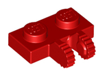 Hinge Plate 1 x 2 Locking with 2 Fingers on Side, Red (60471 / 4515338)