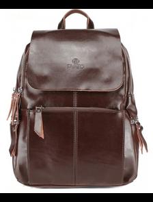 Рюкзак женский PYATO тёмно-коричневый p-036