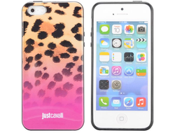 Чехол-накладка Just Cavalli Pink Leopard для iPhone 5, 5s
