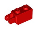 Hinge Brick 1 x 2 Locking with 2 Fingers Vertical End, 9 Teeth, Red (30365 / 4173322)