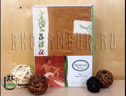 Комплект для сауны из бамбука мужской кофе
