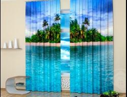 Дизайнерские фотошторы: Райский остров