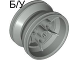 ! Б/У - Wheel 43.2mm D. x 26mm Technic Racing Small, 3 Pin Holes, Light Gray (41896 / 4180144) - Б/У