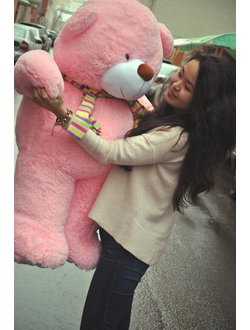 Большой розовый мишка Рафаэль (110 см)