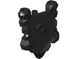 Minifig, Shield Pentagonal with Rock Edges, Black (22409 / 6135542)
