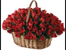 Корзина красных роз 101 роза в корзине Империя