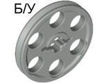 ! Б/У - Technic Wedge Belt Wheel  Pulley , Light Gray (4185 / 4100502) - Б/У