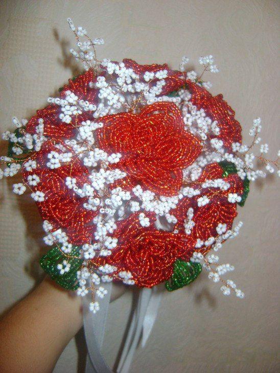 Мастер класс бисероплетение букет роз