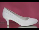 Свадебные туфли белые круглый мыс маленький каблук украшены сверкающими стразами купить интернет