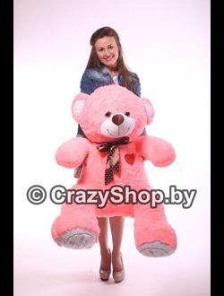 """Плюшевый медведь """"Шон"""" розовый 140 см."""