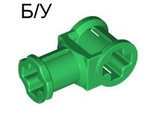 ! Б/У - Technic, Axle Connector with Axle Hole, Green (32039 / 4114233) - Б/У