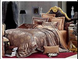 Артикул H017. Элитное постельное белье на 100% хлопковой основе с использованием шелковой нити,декорировано вышивкой