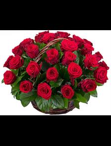 Корзина с розами 29 роз