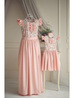 Одинаковые платья для мамы и дочки. На заказ. Производство Россия.