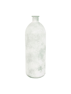 ваза VASE LINOL WHITE D16.5X50CM GLASSарт.32187