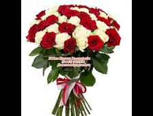Букет из 35 роз красивый тандем