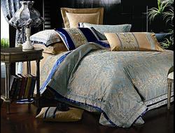 Артикул H021. Элитное постельное белье на 100% хлопковой основе с использованием шелковой нити,декорировано вышивкой