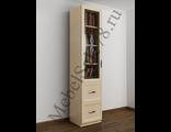 Книжный шкаф с витражным стеклом ШкКн(1)№4