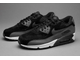 Nike Air Max 90 LTHR Black/Dark Grey/Sail/Metallic Hematite (36-45) арт-007с