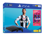 PlayStation 4 Slim (1TB) + FIFA 19 + PS 4 Controller Wireless Dual Shock (G2) Black