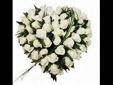 31 белая роза в виде сердца Аметист