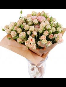 Букет 39 мелкоцветных роз Классик