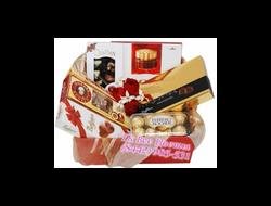 Корзина подарочная Поздравления с Шоколадом