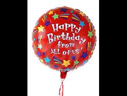 Фольгированный воздушный Шар с днем рождения