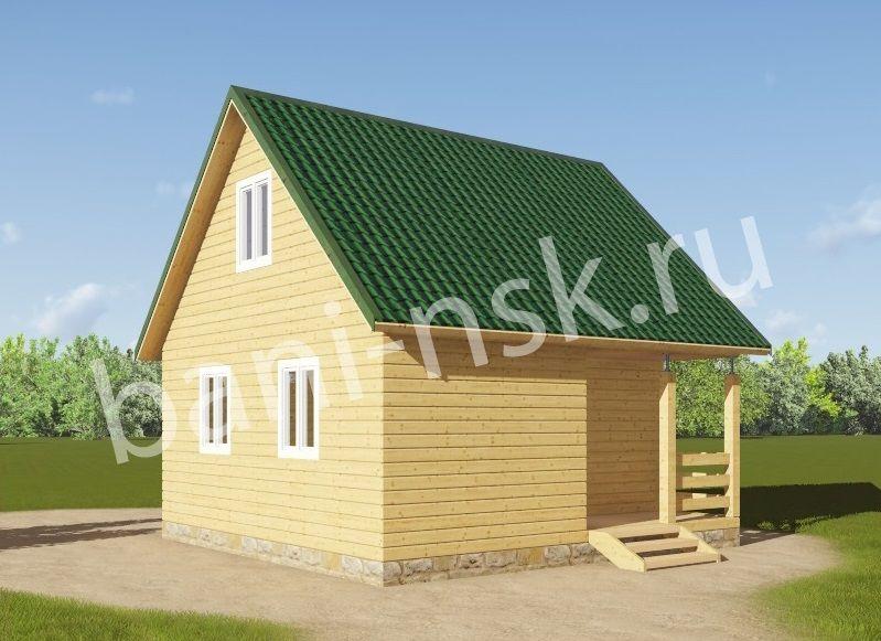 Бюджетный дом гараж