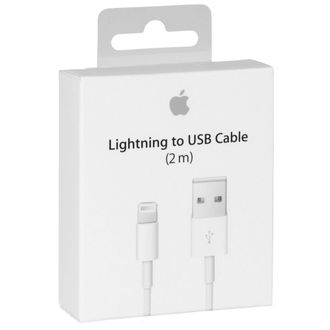 Кабель Apple Lightning для iPhone, iPad, iPod (2 метра)