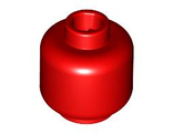 Minifigure, Head  Plain  - Hollow Stud, Red (3626c / 4173441)