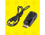 Переходник HDMI - VGA Converter+ Audio (Адаптер-конвертер) Black