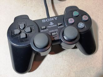 №011 Оригинальный SONY Контроллер для PlayStation 2 PS2 DualShock 2